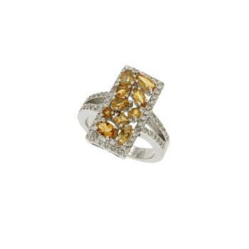 RING/ONR/46/SQUARE MIX CITRINE