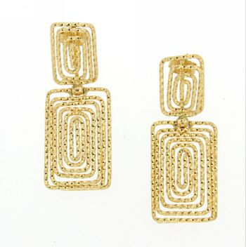 EARRING/CA ORO/OR 506 RECTANGL