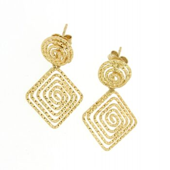 EARRING/CA ORO/OR 501 RECT SML