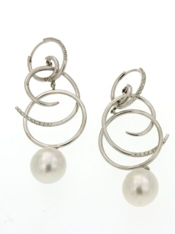 EARRING/MAZZA/ORBRP537/ROUND DESIGN-WHITE PRL