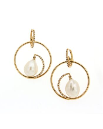 EARRING/MAZZA/OR/KRIKOS DESIGN BR-WHITE FREE PRL
