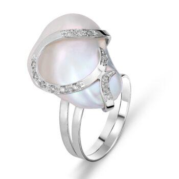RING/MATTIA MAZZA/ANBRP807/FREE WHITE PEARL-BR