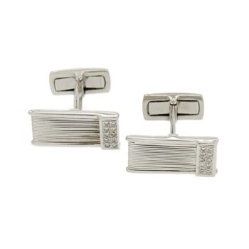 CUFF-LINKS/STRING WHITE-AKRH WHITE BR