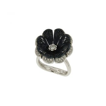 RING/GILORO/P3015-108/BLACK RODIUM
