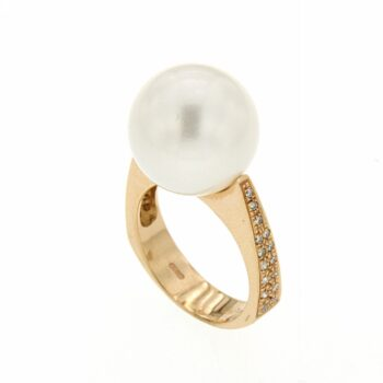 RING/MATTIA MAZZA/AN BRP776/SOUTH SEA WHITE PEARL 14mm
