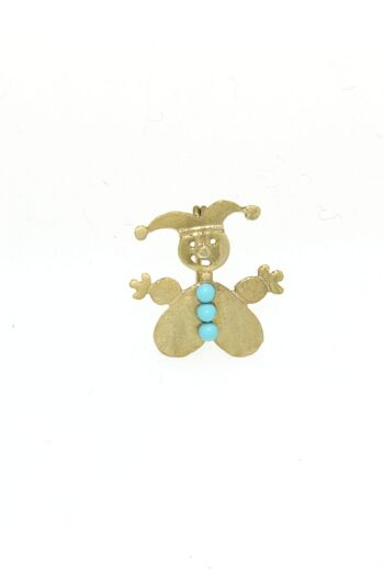 BROOCH/GIRL CLOWN/3 SML TRQZ/EXA942
