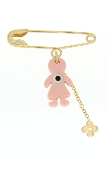 PARAMANA SKETH/BABY PINK CORAL-CHAIN CROSS 488.3 SML LOUSTRE