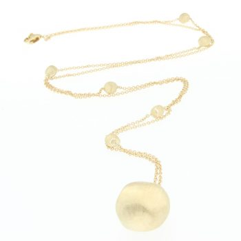 NECKLACE/MARCO BICEGO/AFRICA/CB1584/CHAIN WITH 1LRG GOLD BALLS/80cm