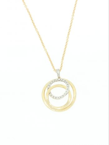 NECKLACE/MARCO BICEGO/JAIPUI LINK/CB1672-B/1 YELLOW LINK+1 WHITE BR LINK/CHAIN 45cm