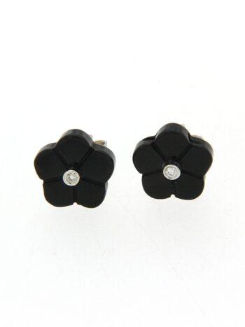 EARRING/9.81/FLOWER BLACK MOP/BR