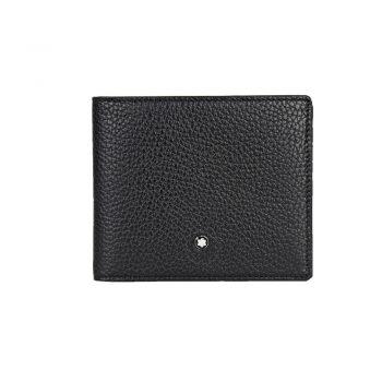 114467/ΠΟΡΤΟΦΟΛΙ 6CC MST MB BLACK WITH REMOVABLE CARD HOLDER/SOFT GRAIN BLACK