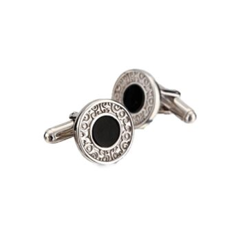 CUFFLINKS/CARRERA Y CARRERA/DF11902-060708/ALEGRIA ROUND WITH ONYX