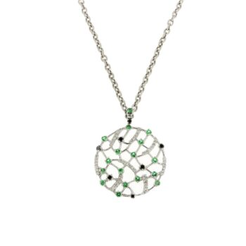 MOTIF/9.81/TSAVORITE & BLACK DIAMONDS & BRILLIANT