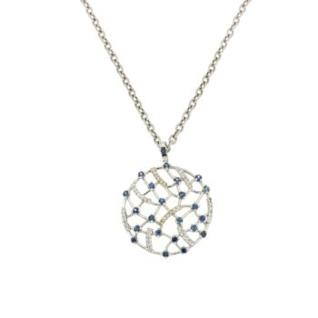 PENDANT/9.81/BLUE SAFFIRE DIAMONDS & BRILLIANT