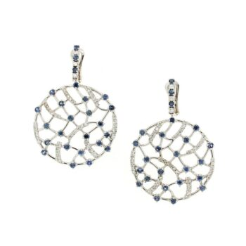 EARRING/9.81/BLUE SAFFIRE DIAMONDS & BRILLIANT