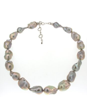 GREY PEARL LINE BAROQUE FRESH WATER PEARLS 15-25mm/XIF159