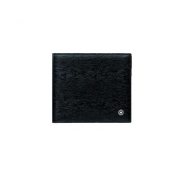 8373/WALLET 4CC WITH COIN CASE BLACK