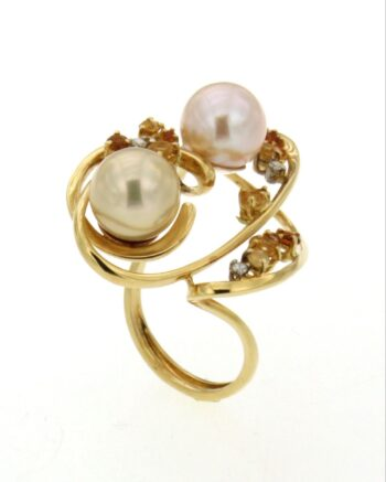 RING/GRIFF/A598-LOUS 2 WHITE PEARL