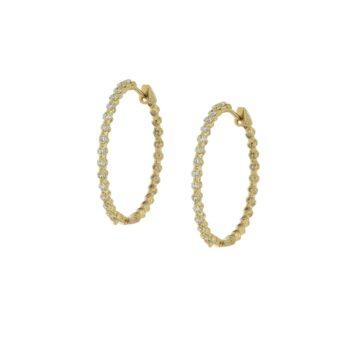 EARRING/HENRY/KRIKOI DIAMOND 2.8cm