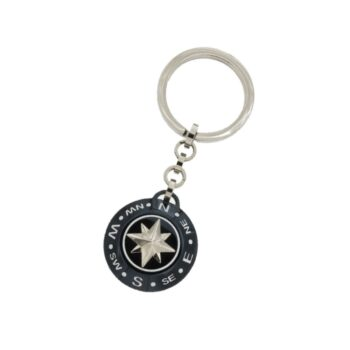 KEY HOLDER ZANCAN/EHP045/STEEL BLACK COMPASS