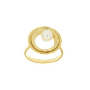 RING/AMC/2 ROUND SATINE-WH PRL 5-5.5mm