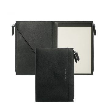 HTM808A/HUGO BOSS/CONFERENCE FOLDER A5 STRIPE SOFT BLACK