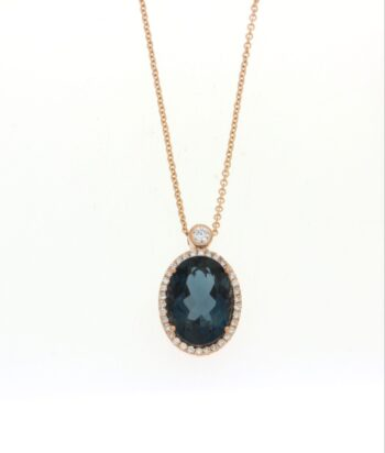 NECKLACE/FANOURAKIS/N20181DlbtP/LRG LONDON BLUE TOPAZ