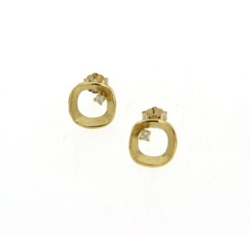 EARRING/AMC/SQUARE SATINE-BR 0.02ct