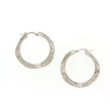 EARRINGS/IL GIOIELLO/ORE2336/R/LINK ROUND WAVE SATINE