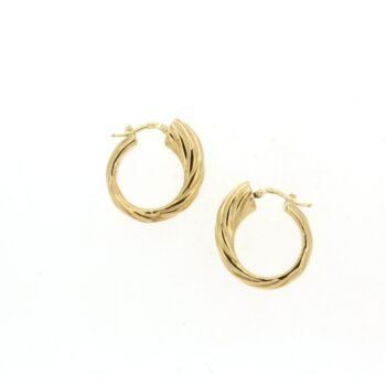 EARRINGS/IL GIOIELLO/ORE2380/LINK ROUND SML LINES