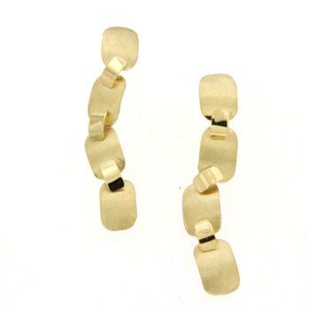 EARRING/DOUBLE/4 SML RECTANGLES SATINE (1.2*0.8cm) - 3 SML LOUSTRE