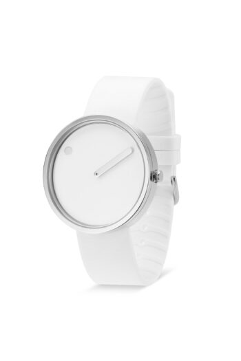 WATCH PICTO/43364-0220S/40mm/WHITE DIAL-POLISHED STEEL CASE/WHITE SILICONE STRAP