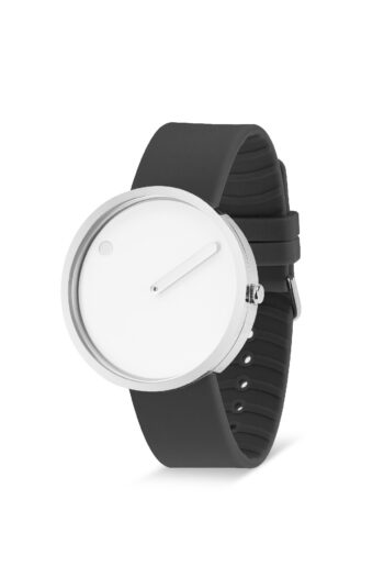 WATCH PICTO/43364-3420S/40mm/WHITE DIAL-POLISHED STEEL CASE/ THUNDER GREY SILICONE STRAP