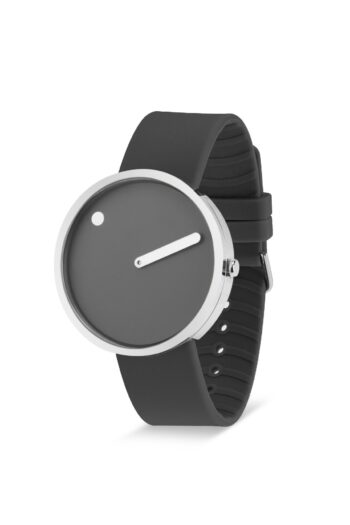 WATCH PICTO/43352-3420S/40mm/THUNDER GREY DIAL-POLISHED STEEL CASE/ THUNDER GREY SILICONE STRAP