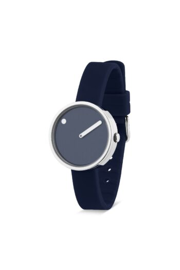 WATCH PICTO/43392-0512S/30mm/NAVY BLUE DIAL POLISHED-STEEL CASE/ NAVY BLUE SILICONE STRAP