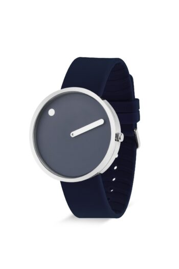 WATCH PICTO/43393-0520S/40mm/NAVY BLUE DIAL-POLISHED STEEL CASE/ NAVY BLUE SILICONE STRAP