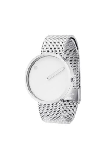 WATCH PICTO/43364-0820/40mm/WHITE DIAL-POLISHED STEEL CASE/STEEL MESH BAND