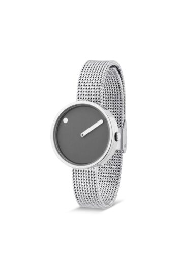 WATCH PICTO/43351-0812/30mm/THUNDER GREY DIAL-POLISHED STEEL CASE/STEEL MESH BAND