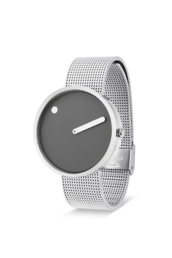 WATCH PICTO/43352-0820/40mm/THUNDER GREY DIAL-POLISHED STEEL CASE/STEEL MESH BAND