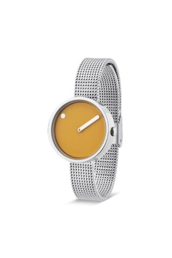 WATCH PICTO/43353-0812/30mm/MUSTARD YELLOW-DIAL POLISHED STEEL CASE/STEEL MESH BAND