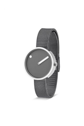 WATCH PICTO/43351-1212/30mm/THUNDER GREY DIAL- POLISHED STEEL CASE/GREY MESH BAND