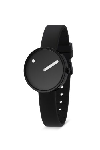 WATCH PICTO/43360-0112B/30mm/BLACK DIAL-BLACK CASE/BLACK SILICONE STRAP
