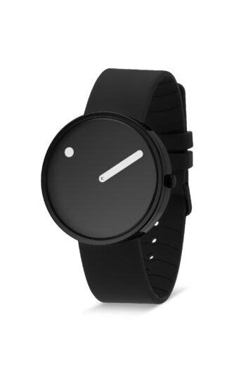 WATCH PICTO/43361-0120B/40mm/BLACK DIAL-BLACK CASE/BLACK SILICONE STRAP