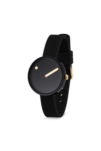 WATCH PICTO/43313-0112G/30mm/BLACK DIAL-POLISHED BLACK CASE/ BLACK SILICONE STRAP