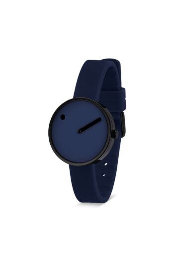 WATCH PICTO/43394-0512B/30mm/NAVY BLUE DIAL- POLISHED BLACK CASE/ NAVY BLUE SILICONE STRAP