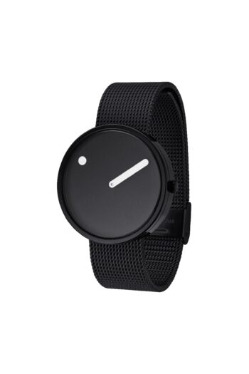 WATCH PICTO/43361-1020/40mm/BLACK DIAL-POLISHED BLACK CASE/BLACK MESH BAND