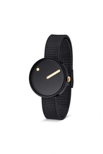 WATCH PICTO/43313-1012/30mm/BLACK DIAL- POLISHED BLACK CASE/BLACK MESH BAND