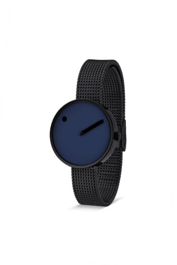 WATCH PICTO/43394-1012/30mm/NAVY BLUE DIAL- BLACK CASE/BLACK MESH BAND