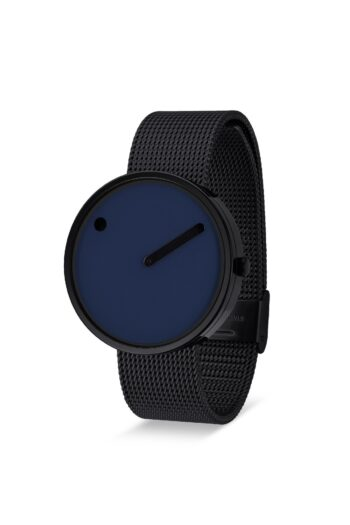 WATCH PICTO/43395-1020/40mm/NAVY BLUE DIAL-BLACK CASE/BLACK MESH BAND