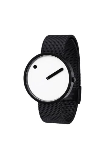 WATCH PICTO/43379-1020/40mm/WHITE DIAL-BLACK CASE/BLACK MESH BAND
